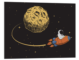 Quadro em PVC  To the moon and back - Kidz Collection