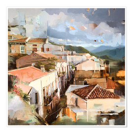 Póster Premium  Roofs of Sicily - Johnny Morant