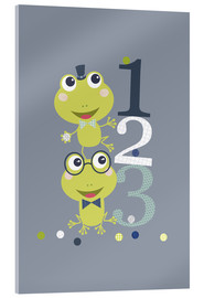Quadro em acrílico  Frogs playing with numbers - Jaysanstudio