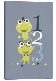 Quadro em tela  Frogs playing with numbers - Jaysanstudio