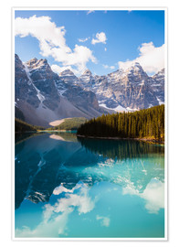 Póster Premium  Lake Moraine in the Canadian Rockies - Matteo Colombo