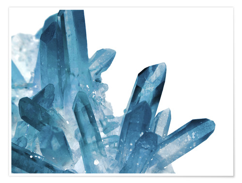 Póster Premium Crystal in blue