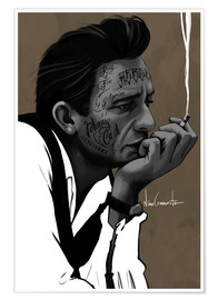 Póster Premium johnny cash