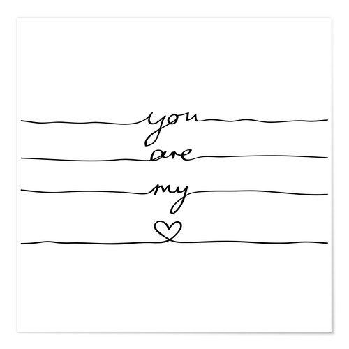 Póster Premium You are my heart