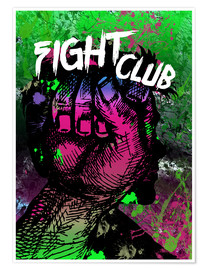 Póster Premium Fight Club - Minimal alternative Film Fanart #2