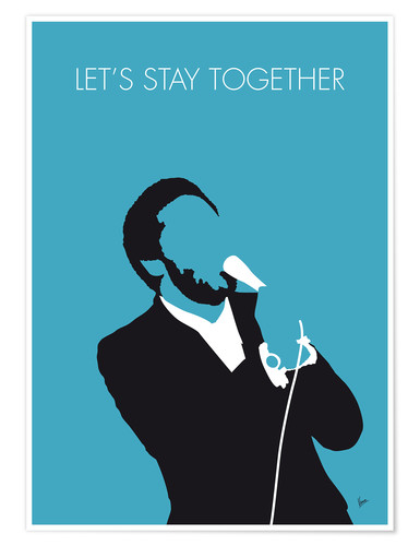 Póster Premium Al Green - Let's Stay Together