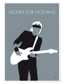 Póster Premium Mark Knopfler, Money for nothing
