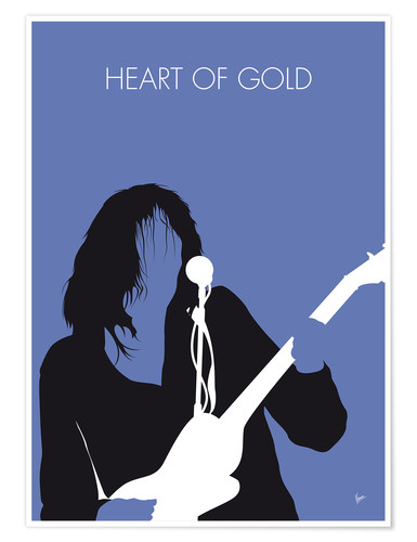 Póster Premium Neil Young - Heart Of Gold