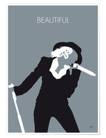Póster Premium Christina Aguilera - Beautiful