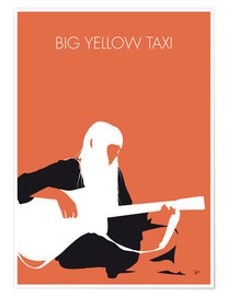 Póster Premium Joni Mitchell - Big Yellow Taxi