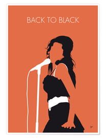 Póster Premium  Amy Winehouse, Back to black - chungkong