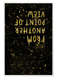 Póster Premium TEXT ART GOLD From another point of view