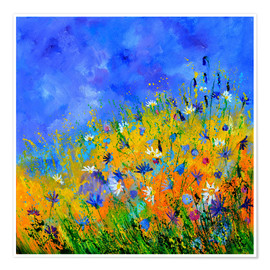 Póster Premium  Wildflowers in the cornfield - Pol Ledent