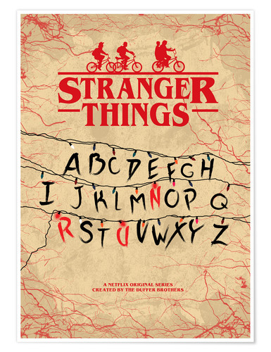 Póster Premium Stranger Things