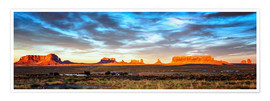 Póster Premium Monument Valley panorama