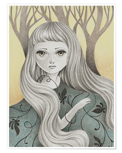Póster Premium Ghost of the Forest
