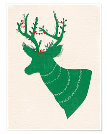 Póster Premium Green Stag