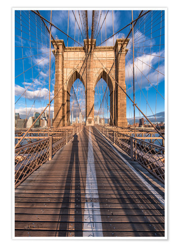 Póster Premium Brooklyn Bridge New York