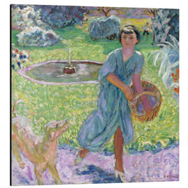 Quadro em alumínio  Girl Playing with a Dog - Pierre Bonnard