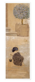 Póster Premium  Boy with sandcastle or child with bucket - Pierre Bonnard