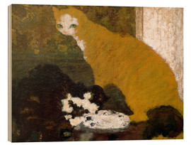 Quadro de madeira  The cats - Pierre Bonnard