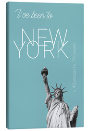 Quadro em tela  Popart New York Statue of Liberty I have been to Color: Light blue - campus graphics