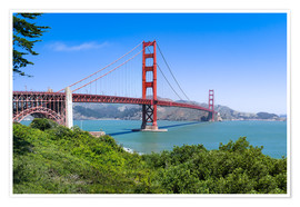 Póster Premium  Golden Gate Bridge in San Francisco, California, USA - Jan Christopher Becke