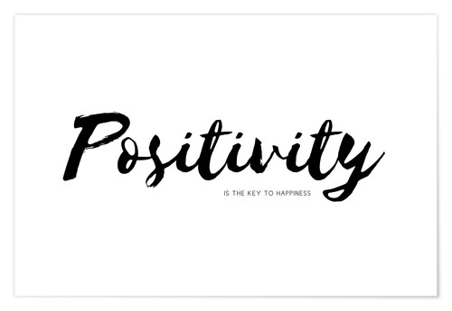 Póster Premium positivity is the key to happiness