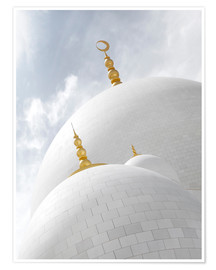 Póster Premium  white cupolas of sheikh zayed mosque