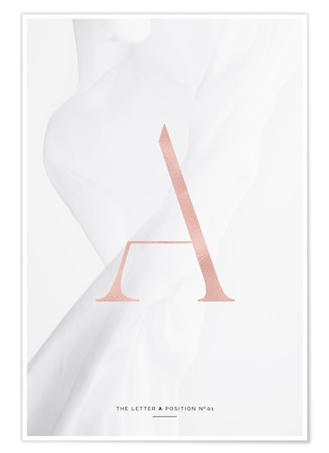 Póster Premium ROSE GOLD LETTER COLLECTION A
