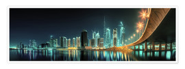 Póster Premium  Panoramic view - Dubai Business Bay