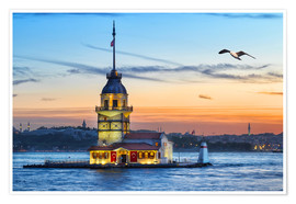 Póster Premium  Maiden's Tower on the Bosphorus