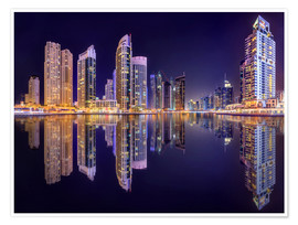 Póster Premium  The beauty of the marina in Dubai