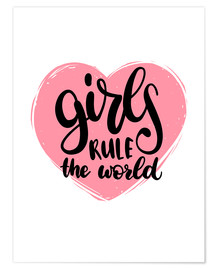 Póster Premium  Girls rule the world - Typobox