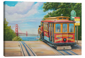 Quadro em tela  To Golden Gate Bridge - Georg Huber