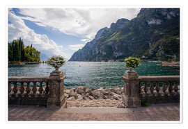 Póster Premium Lake Garda in the summer