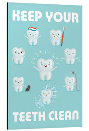 Quadro em alumínio  Keep your teeth clean - Kidz Collection