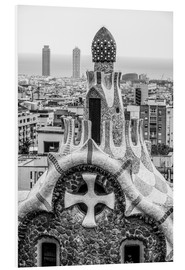 Quadro em PVC  Impressive architecture and mosaic art at Park Guell