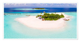 Póster Premium  Aerial view of island in the Maldives - Matteo Colombo