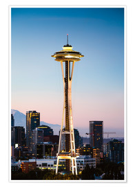 Póster Premium The Space Needle, Seattle, USA