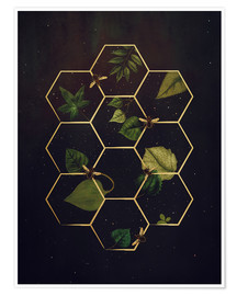 Póster Premium  bees in space - Sybille Sterk