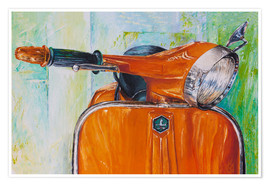 Póster Premium  Vespa orange - Renate Berghaus