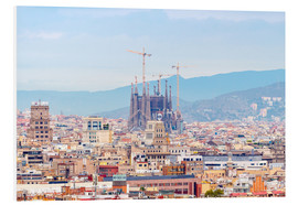 Quadro em PVC  Barcelona with the Cathedral of Gaudí