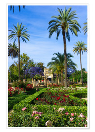Póster Premium  Gardens of the Museum of Seville