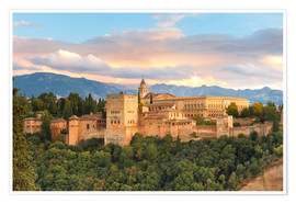 Póster Premium  Alhambra with Comares tower