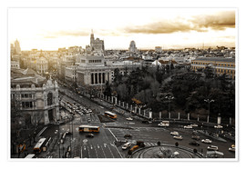 Póster Premium  The city of Madrid in Spain