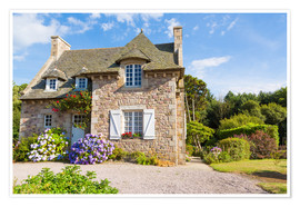 Póster Premium  Country house in the summer