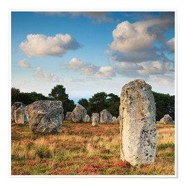 Póster Premium  Megaliths in Carnac