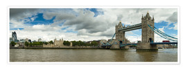 Póster Premium  Panorama Tower Bridge and Tower of London - Circumnavigation