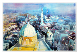Póster Premium  Bethlehem, view from the Syrian Orthodox Church - Johann Pickl